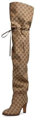 Gucci Original GG Canvas Over the Knee Boot