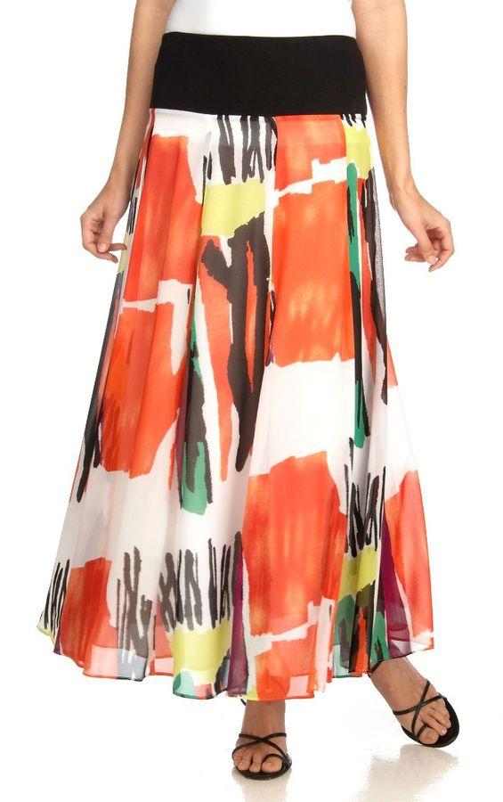 Jones new york collection printed silk skirt