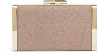 Jimmy Choo J Box ballet pink glitter clutch