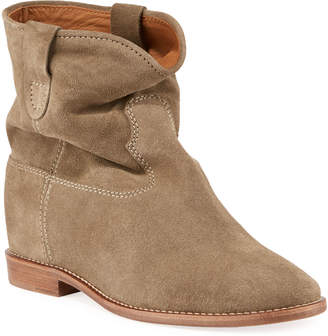 Isabel Marant Crisi Western Suede Flat Booties