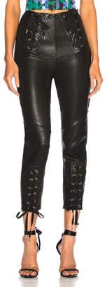 Marissa Webb Nilda Leather Lace Up Pant