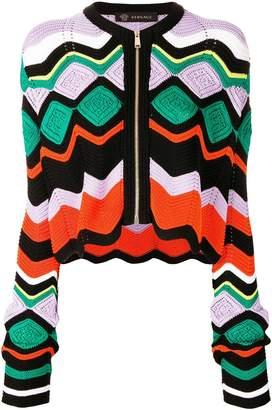 Versace crochet knit cardigan