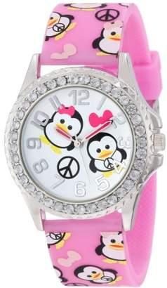 Original Penguin Frenzy Kids' FR804B Print Pink Analog Watch