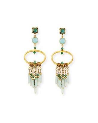 Sequin Statement Chandelier Earrings