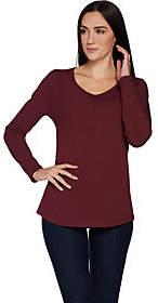 Martha Stewart Classics V-neck LongSleeve Knit Top