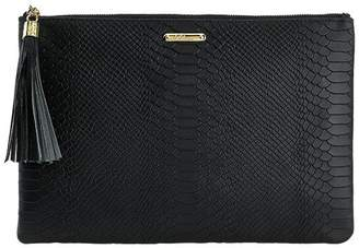 Graphic Image Uber Clutch in Embossed Python Leather