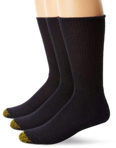 Gold Toe Men's Cushion Foot Fluffie Sock, 3-Pack