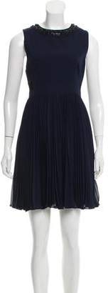 Rebecca Taylor Embellished Pleated Dress