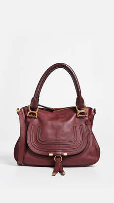 Chloé What Goes Around Comes Around Burgundy Leather Marcie Medium Tote