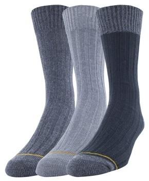 Gold Toe Gt a Goldtoe Brand GT by Men's Cotton Rib Dress Casual Socks, 3-Pack