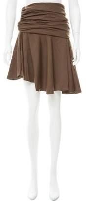 Carlos Miele Herringbone Wool Skirt