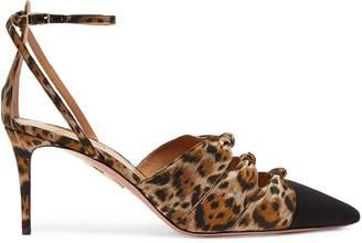 Aquazzura Mondaine 85 leopard-print pumps