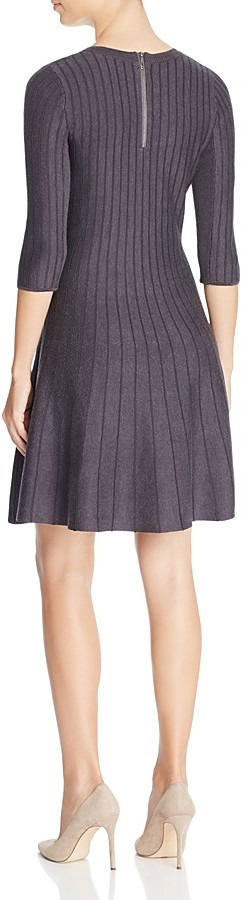 NIC+ZOE Ribbed Fit and Flare Dress - 100% Exclusive 2