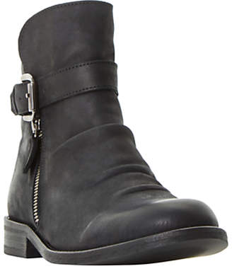 Bertie Penbury Buckle Ankle Boots, Black