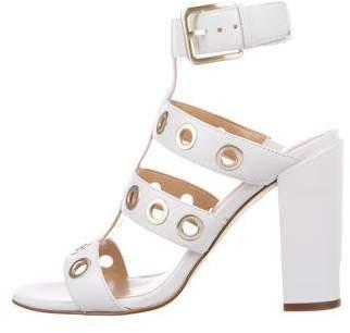 Saks Fifth Avenue Leather Grommet Sandals