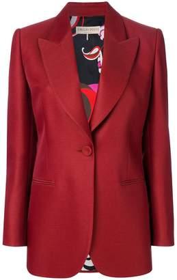 Emilio Pucci longline bow-embellished blazer