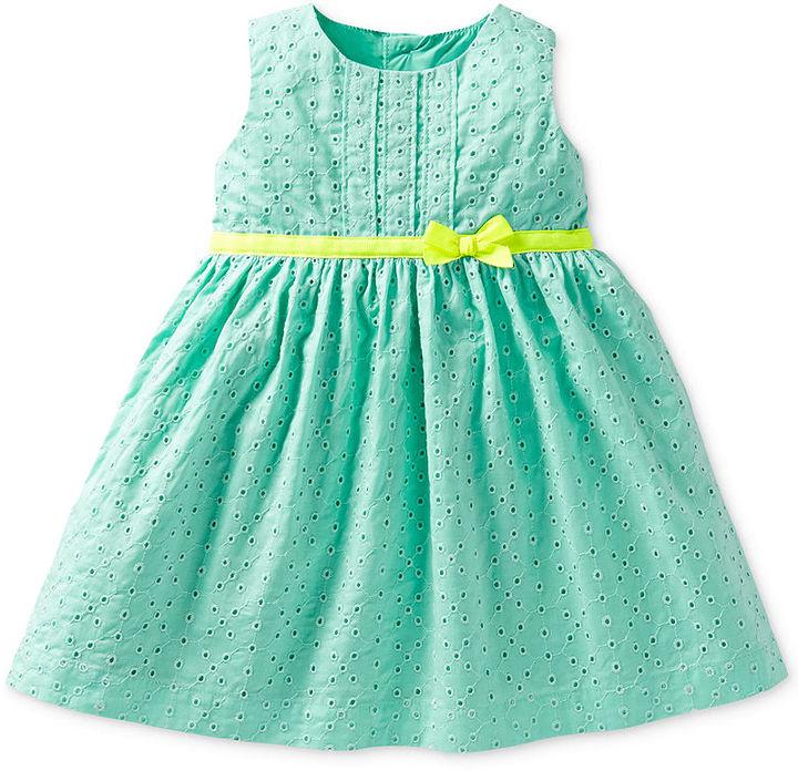 Carter's Baby Girls' 2-Piece Eyelet Dress & Bloomers Set