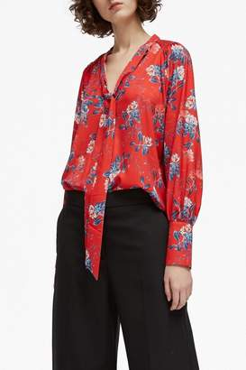 French Connection Crepe Tie Top
