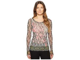 Fuzzi Embroidery T-Shirt Women's T Shirt