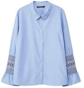Violeta BY MANGO Stripes bands shirt