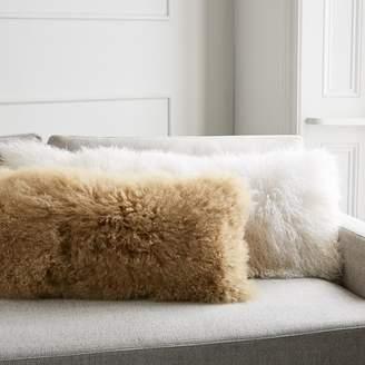 west elm Mongolian Lamb Pillow Covers - Bolster