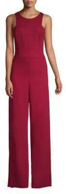 Halston Open-Back Wide-Leg Jumpsuit
