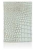 Barneys New York Men's Crocodile-Embossed Leather Passport Case-Light, Pastel green
