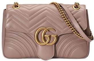 Gucci Beige GG Marmont matelassé shoulder bag