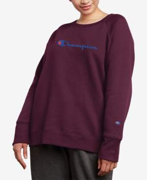 Champion Plus Size Powerblend Fleece Boyfriend Logo Sweatshirt