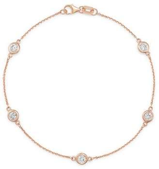 Bloomingdale's Diamond Station Bracelet in 14K Rose Gold, 0.70 ct. t.w. - 100% Exclusive