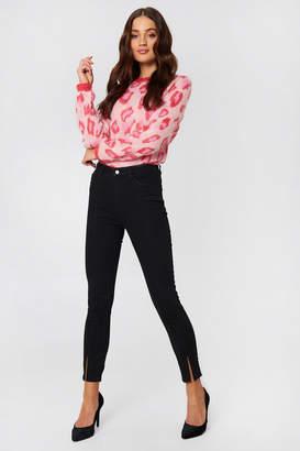 NA-KD Na Kd Highwaist Skinny Front Slit Jeans