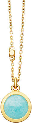 Astley Clarke Stilla 18ct gold-plated amazonite pendant necklace