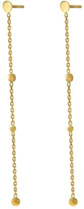 Irena Chmura Jewellery - Long Dots & Chain Earrings