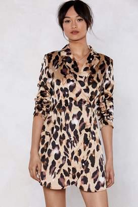 Nasty Gal So Fierce Leopard Blazer Dress