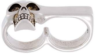 Alexander McQueen skull double band ring