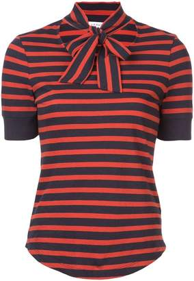 Frame striped bow T-shirt