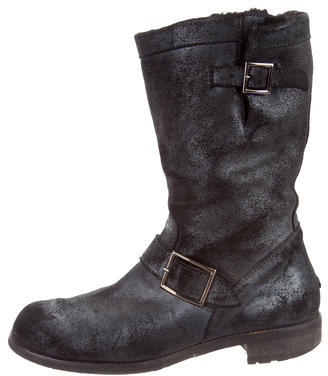 Jimmy Choo Jimmy Choo Metallic Moto Ankle Boots