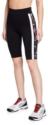 NO KA 'OI No Ka Oi Lapuwale Embellished Side-Stripe Bike Shorts