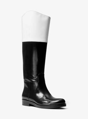 Michael Kors Blanche Color-Block Leather Boot