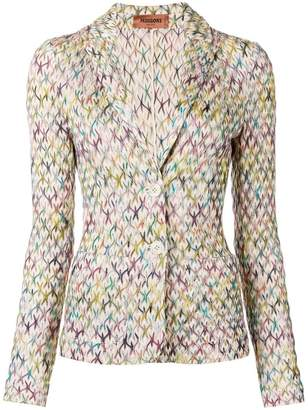 Missoni knitted fitted blazer