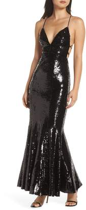 Fame & Partners The Auden Sequin Embellished Gown