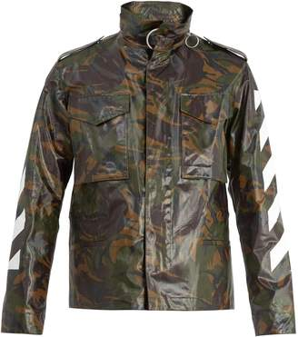 Off-White Laminated camouflage-print cotton-canvas jacket