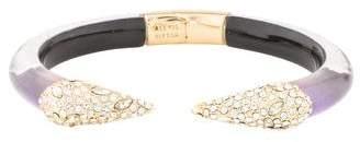 Alexis Bittar Crystal Encrusted Pyramid Brake Bracelet
