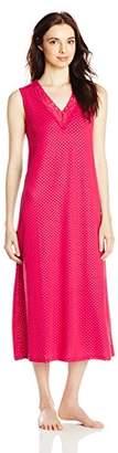 Ahh By Rhonda Shear Women's Lace Print Gown with Shelf Bra