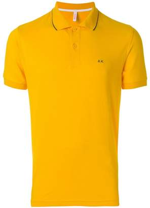 Sun 68 logo embroidered polo shirt