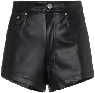 Blindness faux leather shorts