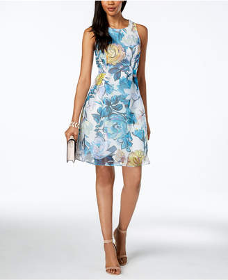 Adrianna Papell Floral Printed Fit & Flare Dress