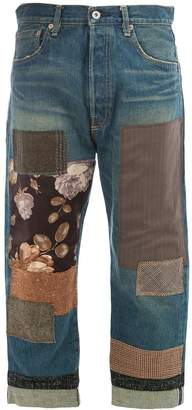 Junya Watanabe patch-work cropped jeans