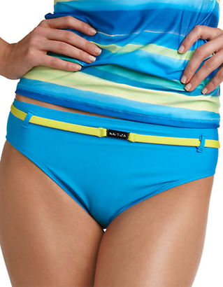 Nautica Belted Hipster Swim Bottom $53 thestylecure.com