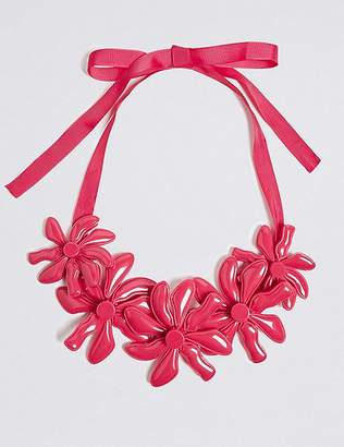 Marks and Spencer Abstract Flower Collar Necklace